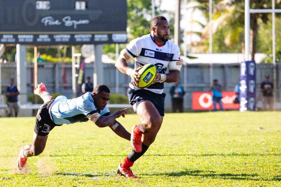 Sefa Naivalu evades Fiji tackle Fiji Drua v Melbourne Rising NRC 2018 (Credit Rugby Australia)