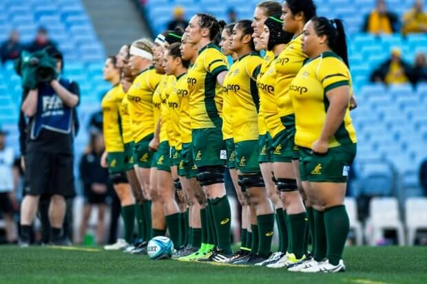 Wallaroos pre-game (Credit Keith McInnes)