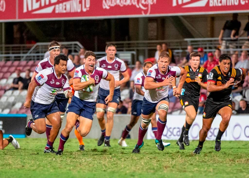 Jack Hardy  Reds v Chiefs trial 2019 (photo credit: QRU Media/Brendan Hertel)
