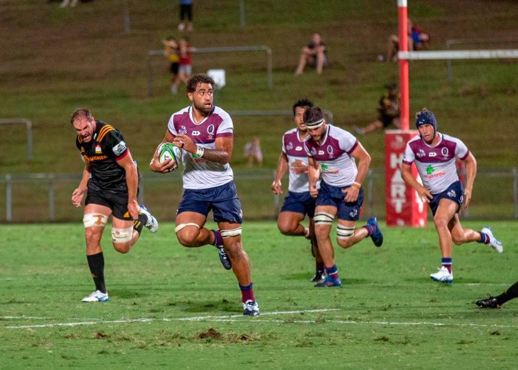 Lukhan Salakaia-Loto  Reds v Chiefs trial 2019 (photo credit: QRU Media/Brendan Hertel)