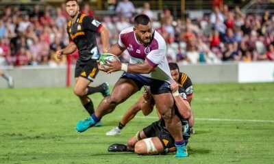 Taniela Tupou  Reds v Chiefs trial 2019 (photo credit: QRU Media/Brendan Hertel)