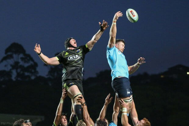 Holloway nicks a line out.