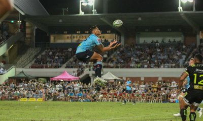 Folau in flight.