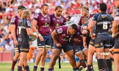Queensland Reds pack a scrum