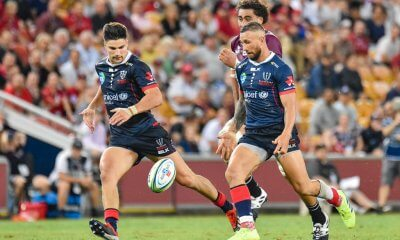 Quade Cooper chips for Jack Maddocks Reds v Rebels 2019