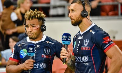 DJ Will Genia and MC Quade Cooper  Reds v Rebels 2019