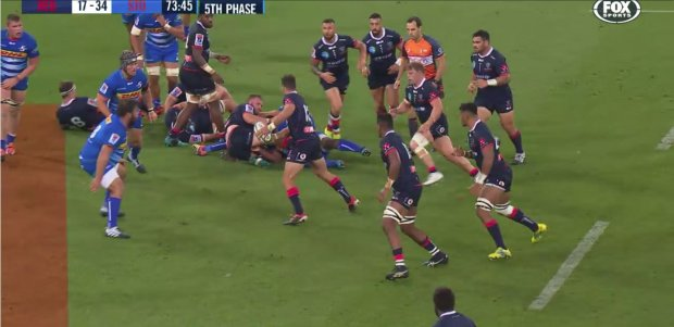 There are 13 Rebels players in this frame. No wonder their attack wasn't working. Look familiar?