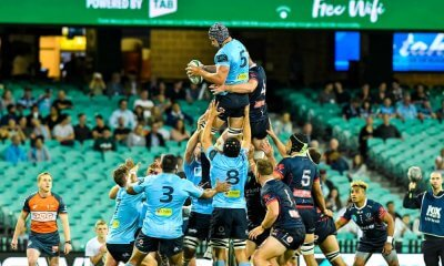 Rob Simmons lineout take Waratahs v Rebels 2019 (Credit Keith McInnes)