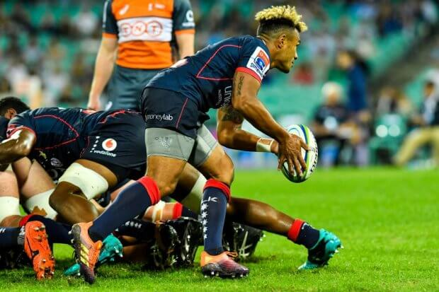Will Genia snipes Waratahs v Rebels 2019 (Credit Keith McInnes)