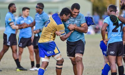 Seru Uru post match Brisbane City v Fiji Drua NRC 2019 (Credit Stephen Tremain)