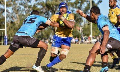 Seru Uru runs Brisbane City v Fiji Drua NRC 2019 (Credit Stephen Tremain)