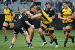 Grace Hamilton on the charge for Wallaroos