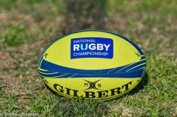 Stock photo of NRC rugby ball