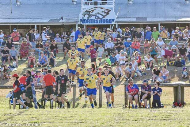 Brisbane City run onto Norths Rugby ground