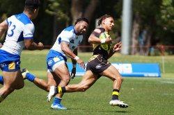 Isaak Fines dashes Western Force v Brisbane City NRC 2019 (Credit Delphy)