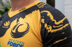 2020 Western Force jersey close up