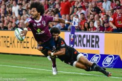 Henry Speight offloads for James O'Connor to score