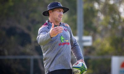 Brad Thorn coaching Reds