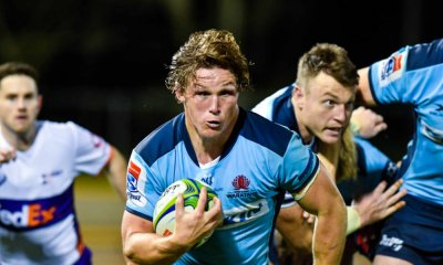 Michael Hooper full steam ahead Waratahs v Rebels Super Rugby 2020 (Credit - Keith McInnes Photography)