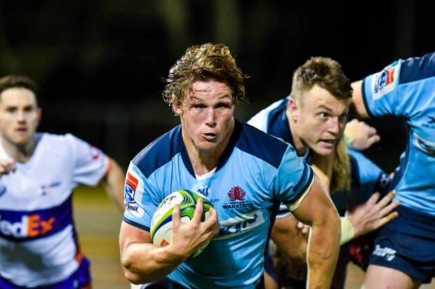 Michael Hooper full steam ahead Waratahs v Rebels Super Rugby 2020 (Credit - Keith McInnes Photography)