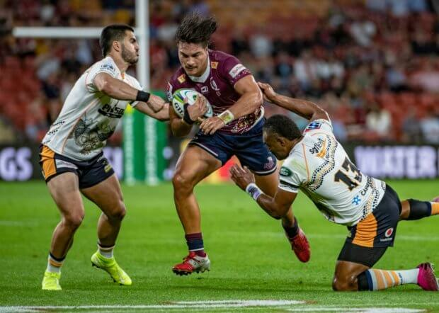 Jordy Petaia 2 Brumbies v Reds Super Rugby 2020 (Photo Credit QRUBrendan Hertel)