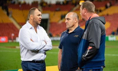 Michael Cheika, Mario Ledesma and Mick Byrne