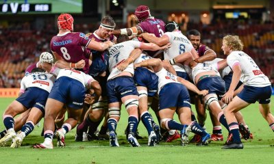 A Queensland Reds rolling maul led to their first try