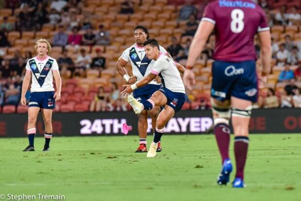 Matt Toomua kicks one of his 6 penalties